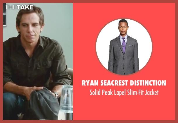 Ryan Seacrest Distinction gray jacket from Little Fockers seen with Ben Stiller (Greg Focker)