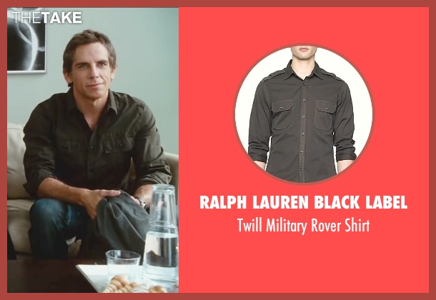 Ralph Lauren Black Label gray shirt from Little Fockers seen with Ben Stiller (Greg Focker)