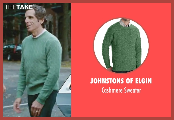 Johnstons of Elgin green sweater from Little Fockers seen with Ben Stiller (Greg Focker)