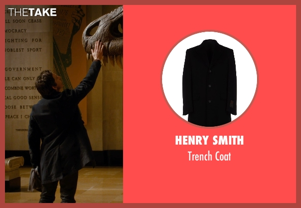 Henry Smith black coat from Night at the Museum: Secret of the Tomb seen with Ben Stiller (Larry Daley)