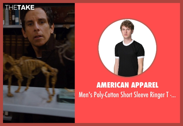 American Apparel black -shirt from Night at the Museum: Secret of the Tomb seen with Ben Stiller (Larry Daley)
