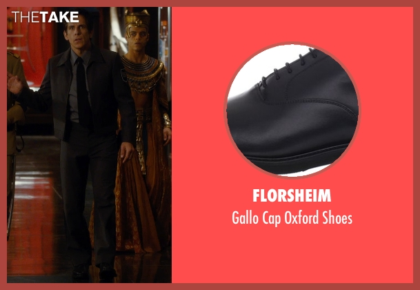 Florsheim black shoes from Night at the Museum: Secret of the Tomb seen with Ben Stiller (Larry Daley)