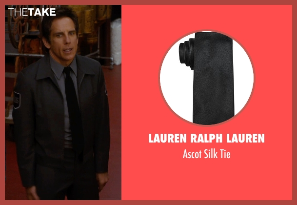 Lauren Ralph Lauren black tie from Night at the Museum: Secret of the Tomb seen with Ben Stiller (Larry Daley)