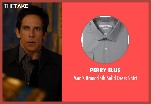 Perry Ellis gray shirt from Night at the Museum: Secret of the Tomb seen with Ben Stiller (Larry Daley)