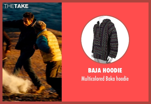 Baja hoodie black hoodie from The Secret Life of Walter Mitty seen with Ben Stiller (Walter Mitty)