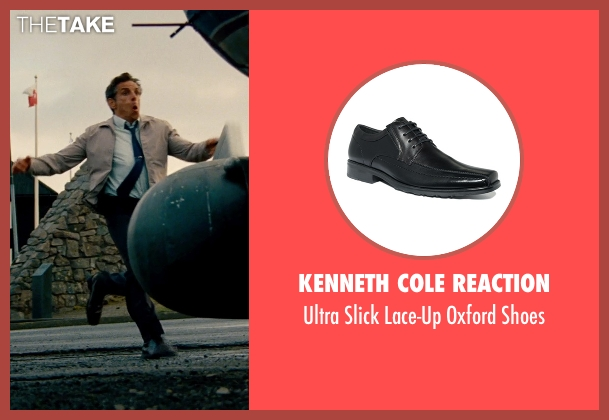 Kenneth Cole Reaction black shoes from The Secret Life of Walter Mitty seen with Ben Stiller (Walter Mitty)