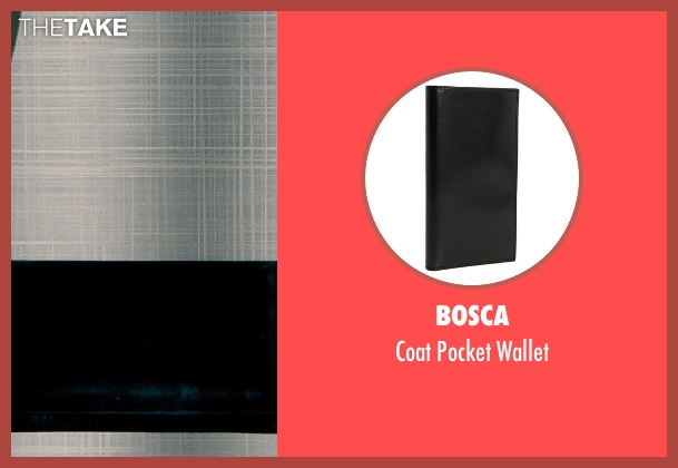 Bosca black wallet from The Secret Life of Walter Mitty seen with Ben Stiller (Walter Mitty)