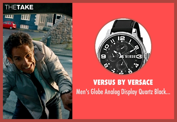 Versus by Versace black watch from The Secret Life of Walter Mitty seen with Ben Stiller (Walter Mitty)