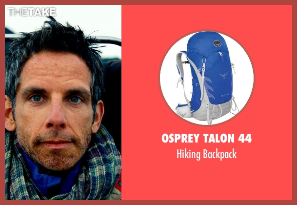 Osprey Talon 44 blue backpack from The Secret Life of Walter Mitty seen with Ben Stiller (Walter Mitty)