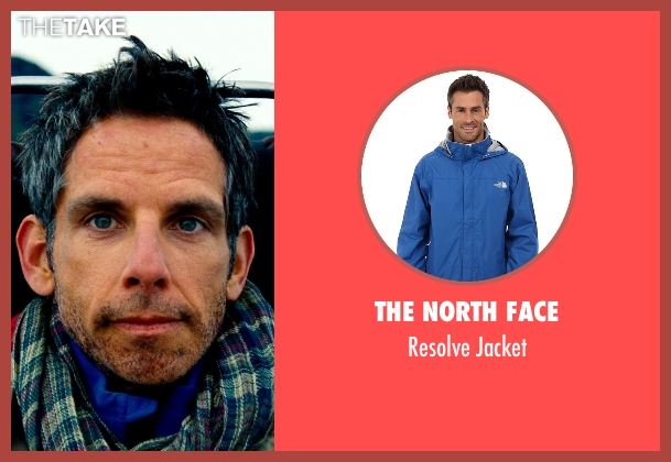 The North Face blue jacket from The Secret Life of Walter Mitty seen with Ben Stiller (Walter Mitty)