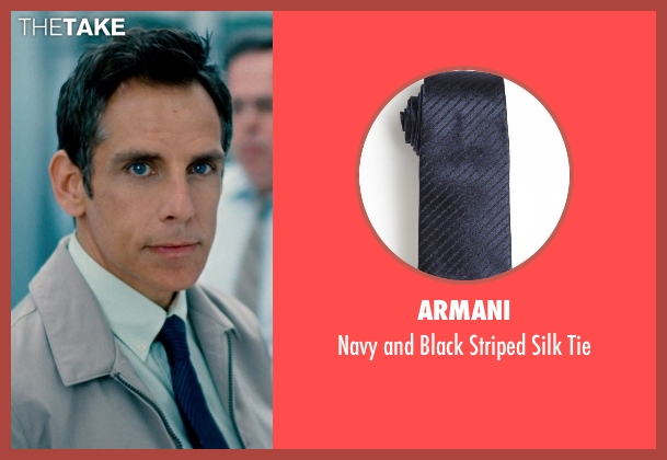 Armani blue tie from The Secret Life of Walter Mitty seen with Ben Stiller (Walter Mitty)