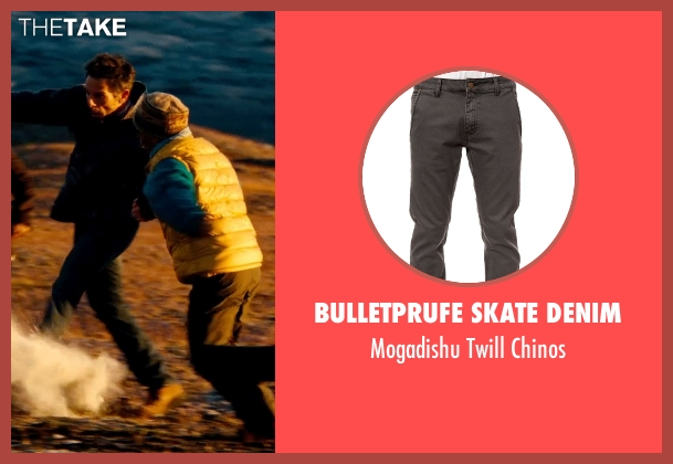 Bulletprufe Skate Denim gray chinos from The Secret Life of Walter Mitty seen with Ben Stiller (Unknown Character)