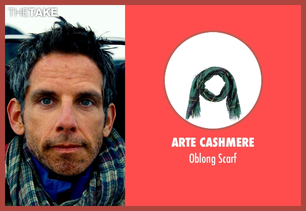 Arte Cashmere green scarf from The Secret Life of Walter Mitty seen with Ben Stiller (Walter Mitty)