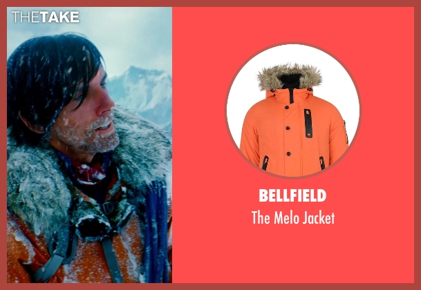 Bellfield orange jacket from The Secret Life of Walter Mitty seen with Ben Stiller (Walter Mitty)