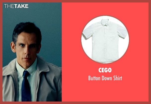 Cego white shirt from The Secret Life of Walter Mitty seen with Ben Stiller (Walter Mitty)