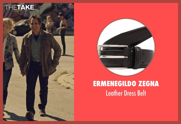 Ermenegildo Zegna black belt from While We're Young seen with Ben Stiller (Josh)
