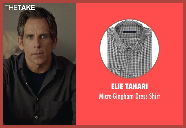 Elie Tahari black shirt from While We're Young seen with Ben Stiller (Josh)