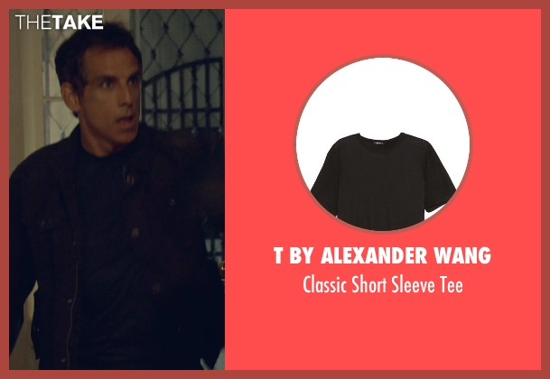 T by Alexander Wang black tee from While We're Young seen with Ben Stiller (Josh)