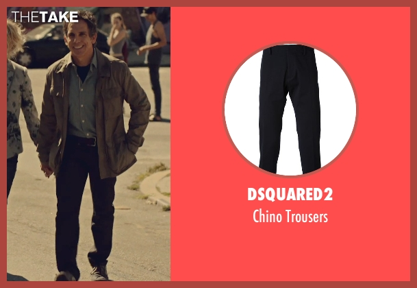 Dsquared2 black trousers from While We're Young seen with Ben Stiller (Josh)