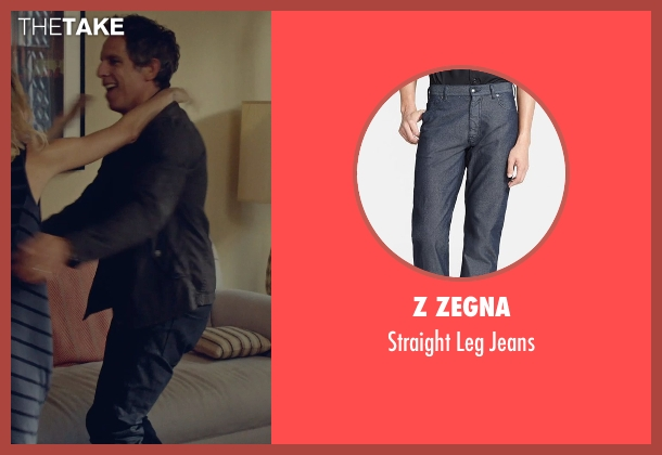 Z Zegna blue jeans from While We're Young seen with Ben Stiller (Josh)