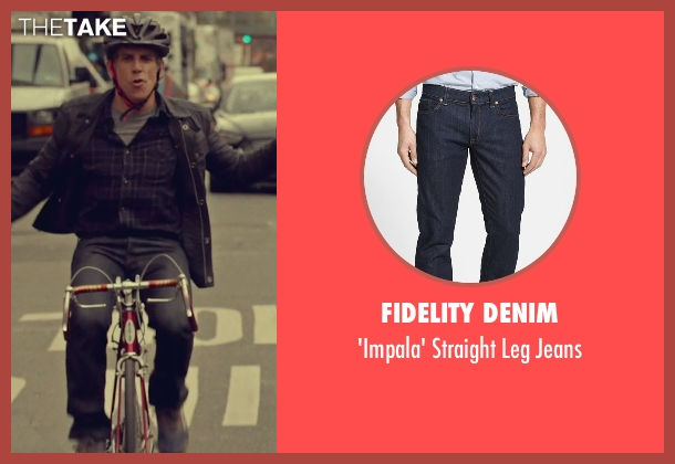 Fidelity Denim blue jeans from While We're Young seen with Ben Stiller (Josh)