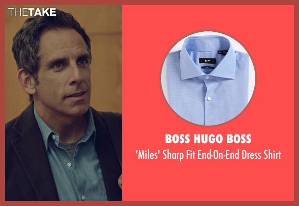 Boss Hugo Boss blue shirt from While We're Young seen with Ben Stiller (Josh)