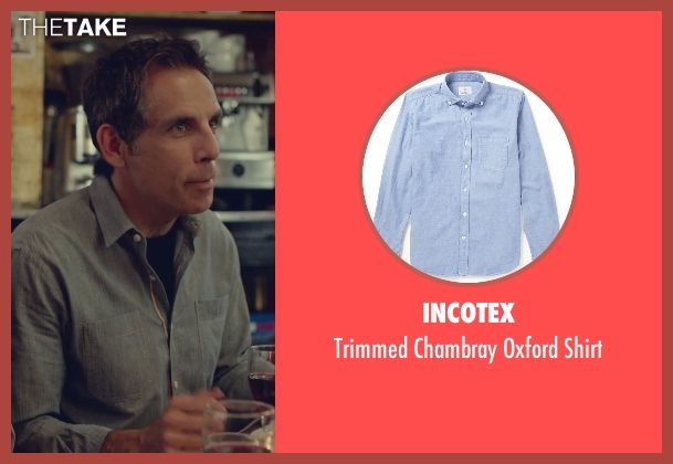 Incotex blue shirt from While We're Young seen with Ben Stiller (Josh)