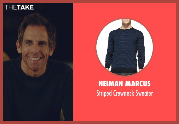 Neiman Marcus blue sweater from While We're Young seen with Ben Stiller (Josh)
