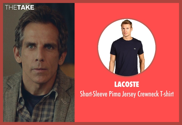 Lacoste blue t-shirt from While We're Young seen with Ben Stiller (Josh)