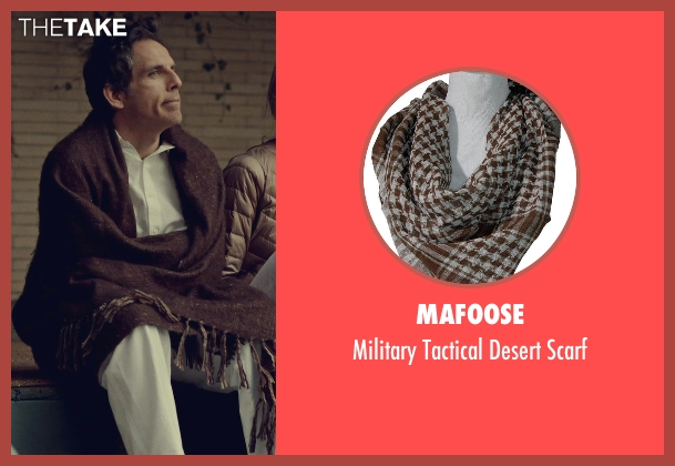 Mafoose brown scarf from While We're Young seen with Ben Stiller (Josh)
