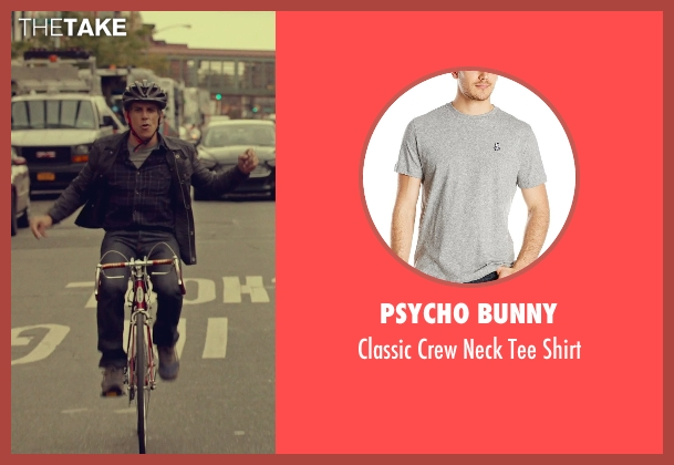 Psycho Bunny gray shirt from While We're Young seen with Ben Stiller (Josh)