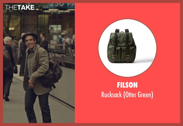 Filson green rucksack from While We're Young seen with Ben Stiller (Josh)