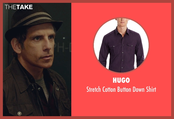 Hugo purple shirt from While We're Young seen with Ben Stiller (Josh)