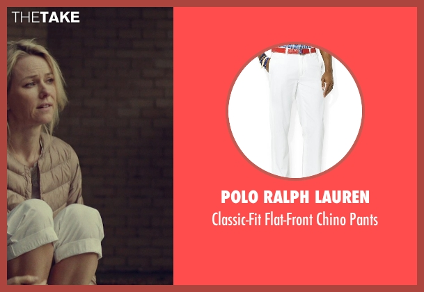 Polo Ralph Lauren white pants from While We're Young seen with Ben Stiller (Josh)