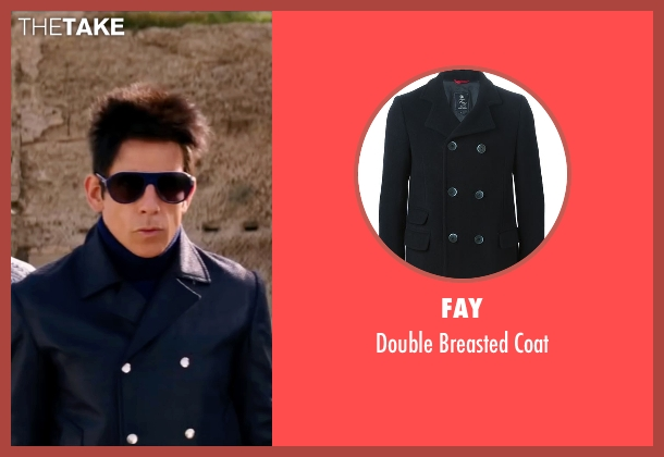 Fay black coat from Zoolander 2 seen with Ben Stiller (Derek Zoolander)