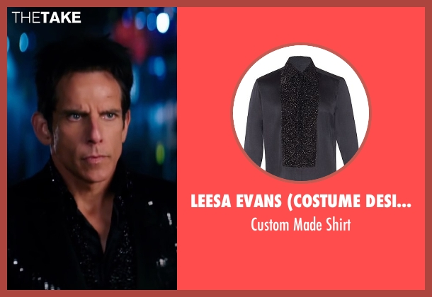 Leesa Evans (Costume Designer) black shirt from Zoolander 2 seen with Ben Stiller (Derek Zoolander)