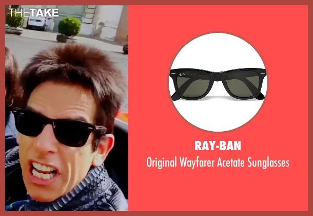 Ray-Ban black sunglasses from Zoolander 2 seen with Ben Stiller (Derek Zoolander)