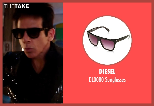 Diesel black sunglasses from Zoolander 2 seen with Ben Stiller (Derek Zoolander)