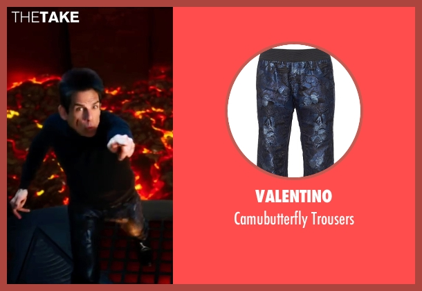 Valentino black trousers from Zoolander 2 seen with Ben Stiller (Derek Zoolander)