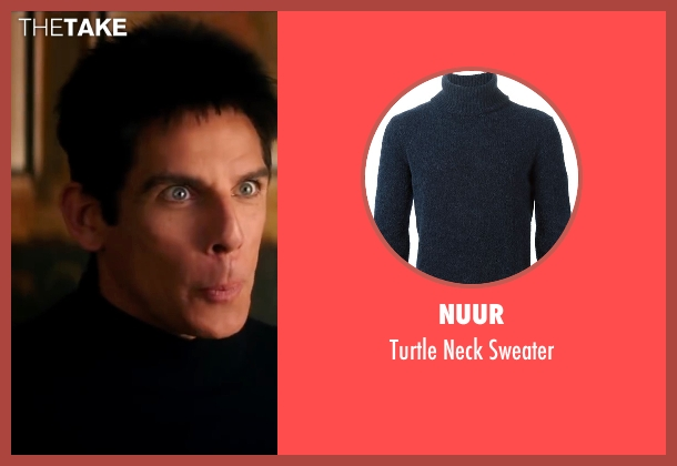 Nuur blue sweater from Zoolander 2 seen with Ben Stiller (Derek Zoolander)