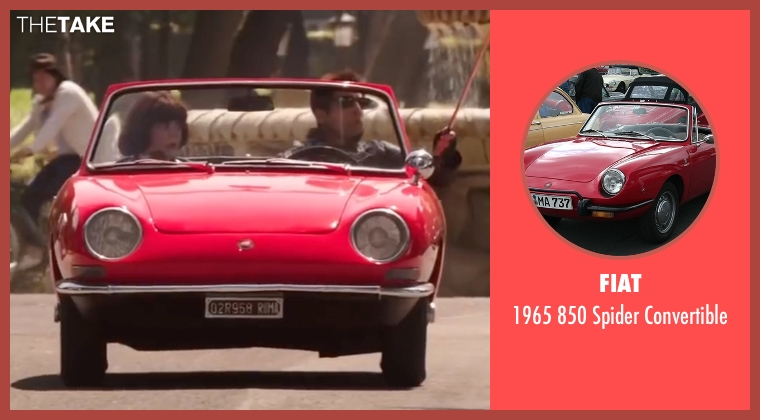 Fiat convertible from Zoolander 2 seen with Ben Stiller (Derek Zoolander)
