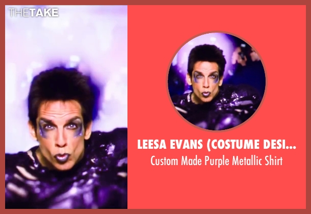 Leesa Evans (Costume Designer) purple shirt from Zoolander 2 seen with Ben Stiller (Derek Zoolander)