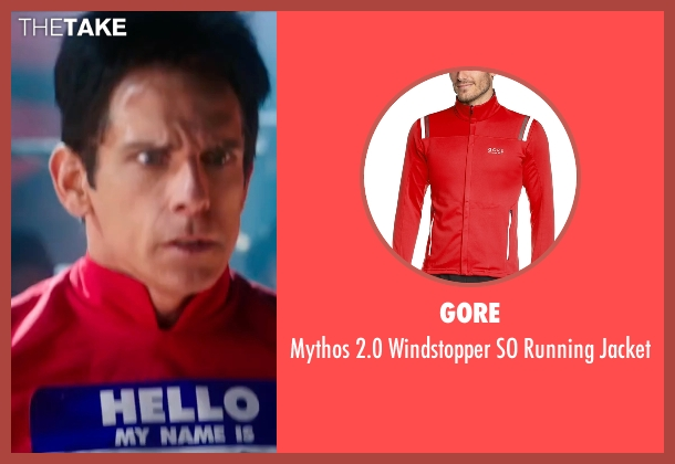Gore red jacket from Zoolander 2 seen with Ben Stiller (Derek Zoolander)