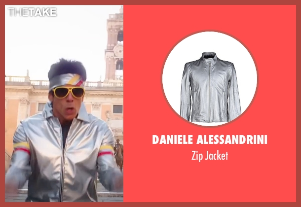 Daniele Alessandrini silver jacket from Zoolander 2 seen with Ben Stiller (Derek Zoolander)