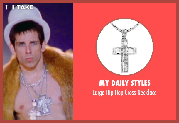My Daily Styles silver necklace from Zoolander 2 seen with Ben Stiller (Derek Zoolander)
