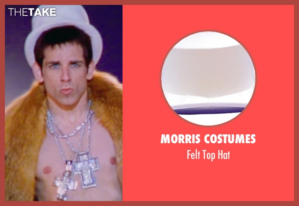 Morris Costumes white hat from Zoolander 2 seen with Ben Stiller (Derek Zoolander)