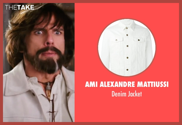 Ami Alexandre Mattiussi white jacket from Zoolander 2 seen with Ben Stiller (Derek Zoolander)