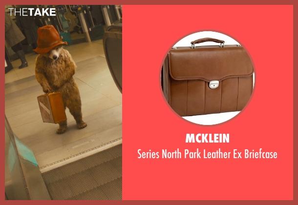 McKlein brown briefcase from Paddington seen with Ben Whishaw (Paddington (Voice))