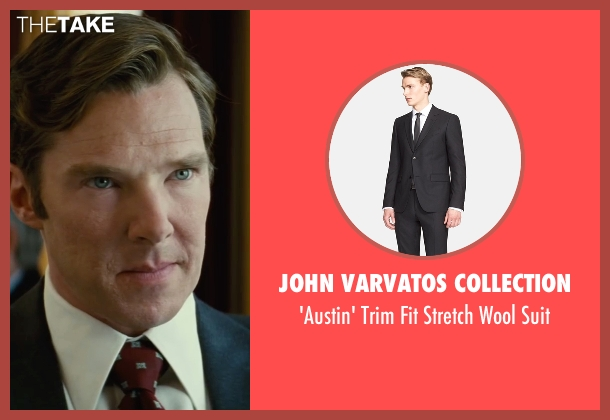 John Varvatos Collection black suit from Black Mass seen with Benedict Cumberbatch (Bill Bulger)
