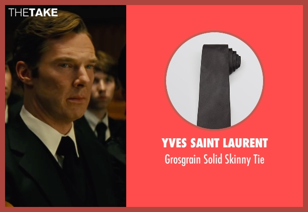 Yves Saint Laurent black tie from Black Mass seen with Benedict Cumberbatch (Bill Bulger)